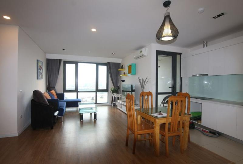 Furnished 3 bedroom apartment for rent in Mipec Riverside, Tower B