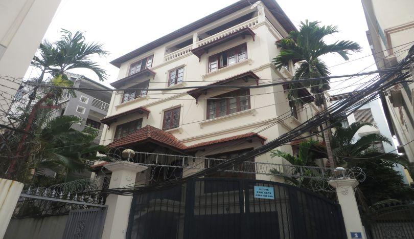 5 bedroom semi furnished villa to let on To Ngoc Van, Tay Ho
