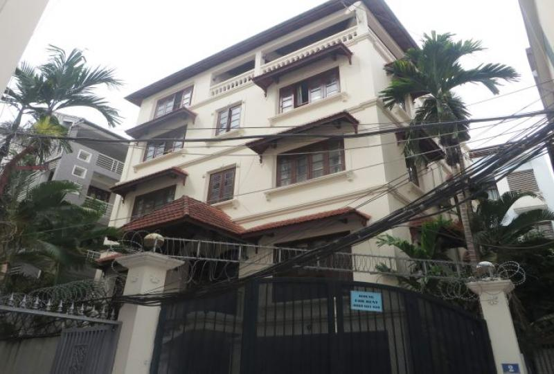 5 bedroom semi furnished villa to let on To Ngoc Van, Tay Ho
