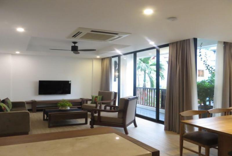Abundance of natural light 3 bedroom apartment rental in Tay Ho