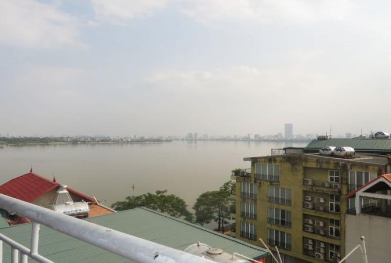 Amazing lake view terraced apartment, 1 bedroom for rent, Tay Ho