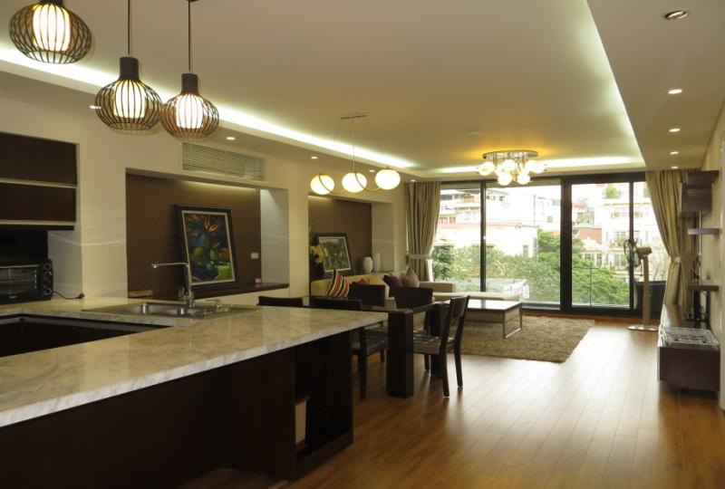 Apartment in Truc Bach Hanoi for rent with 2bed 2bath