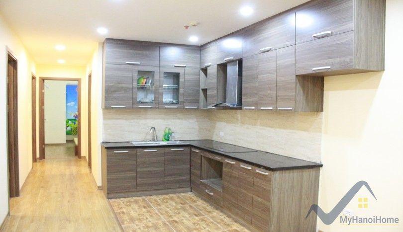 Berriver Long Bien partly furnished apartment for rent 3 bedrooms