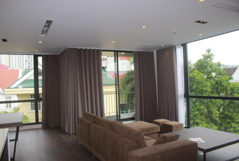 Bright 2 bedroom apartment in To Ngoc Van, Tay Ho to lease