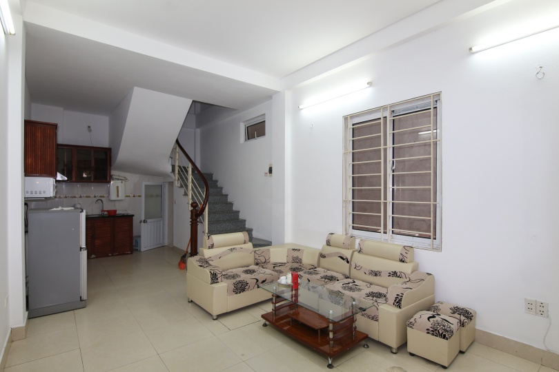 Budget two bedroom house on Quang An for rent, furnished