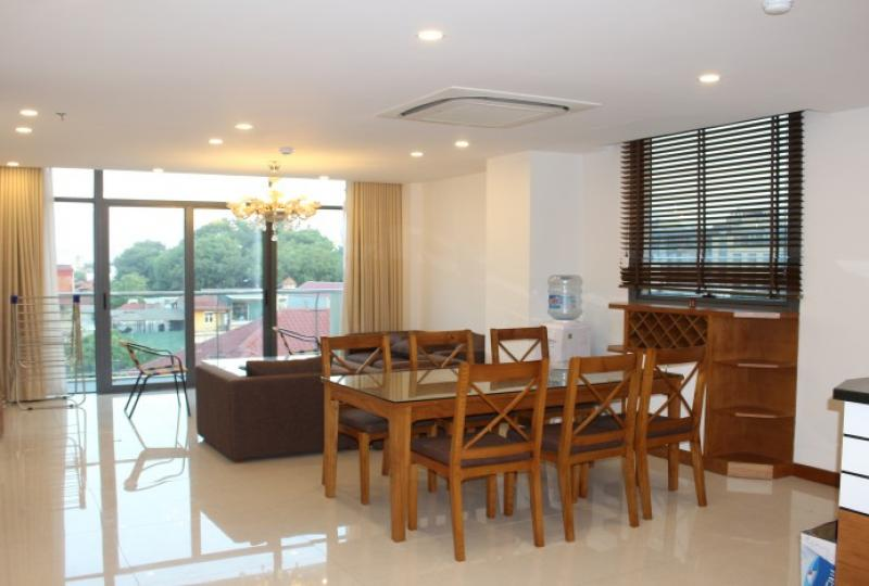 City view three bedroom apartment in Truc Bach area for rent