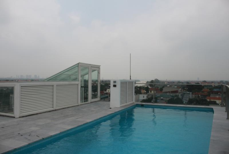 Duplex 4br apartment in Ngoc Thuy Long Bien with swimming pool