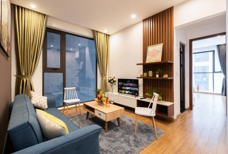Căn hộ 01 phòng ngủ tại Ancora Lương Yên cho thuê đủ đồ