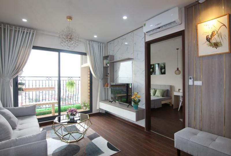 Furnished 02 bedroom apartment in Hanoi Homeland for rent