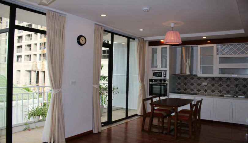 Furnished 02 bedroom apartment on Dang Thai Mai for rent balcony