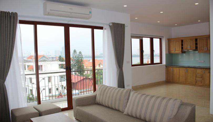 Furnished 1 bedroom apartment for rent on To Ngoc Van Tay Ho