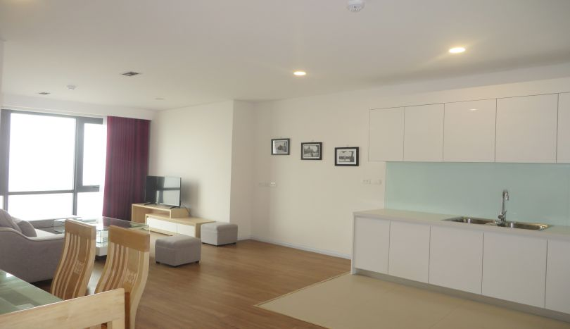 Furnished 2 bedroom apartment for rent in Mipec Riverside, river view