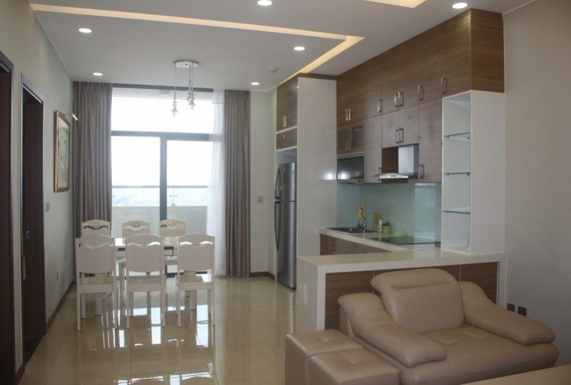 Furnished 2 double bedroom apartment in Trang An Complex Lotte view