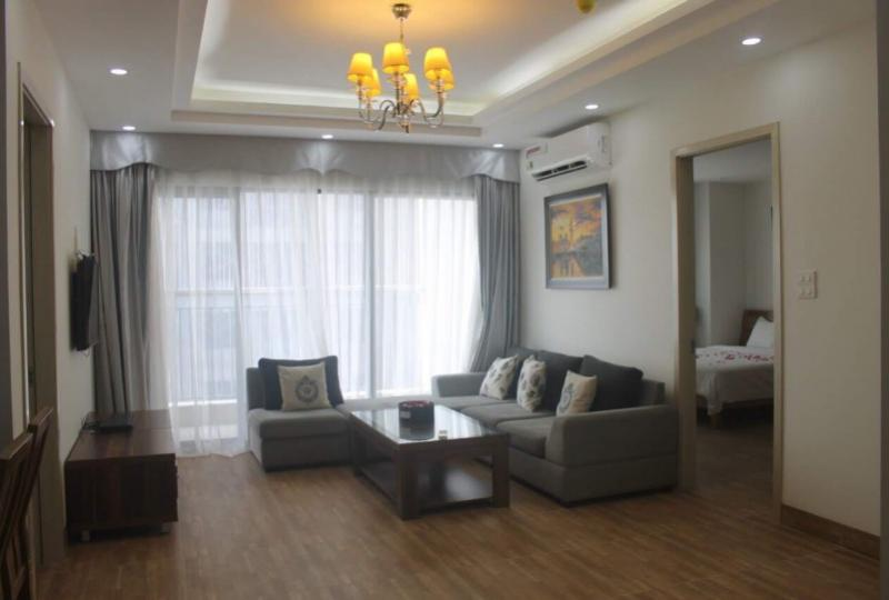 Furnished 3 bedroom apartment for rent in Ngoai Giao Doan complex