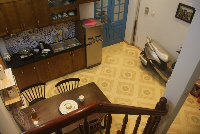 Furnished 3BR house to rent in Doi Can street Ba Dinh district