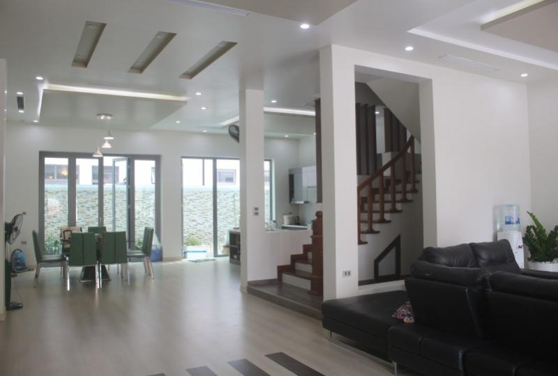 Furnished 4BR villa to rent in Vinhomes Harmony Nguyet Que