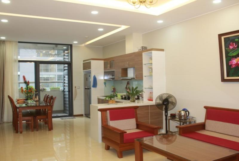 Spacious furnished apartment in Trang An Complex Hanoi with 2 bedrooms
