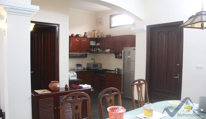 Furnished house in Long Bien district for rent with 3 bedrooms