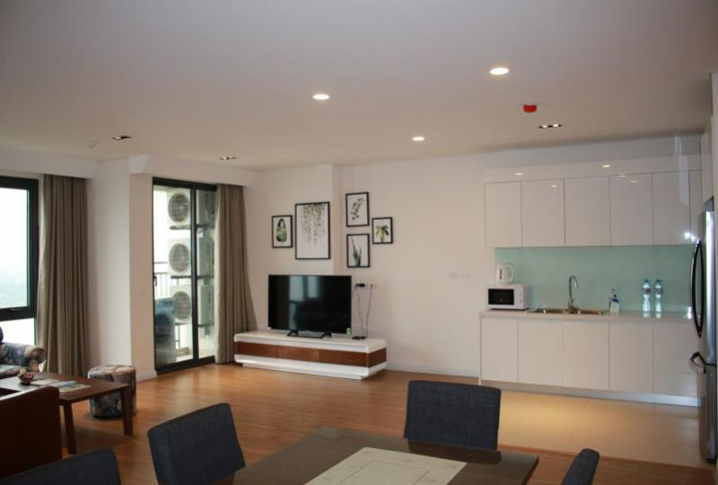 Furnished and Red river view Mipec Riverside apartment to lease
