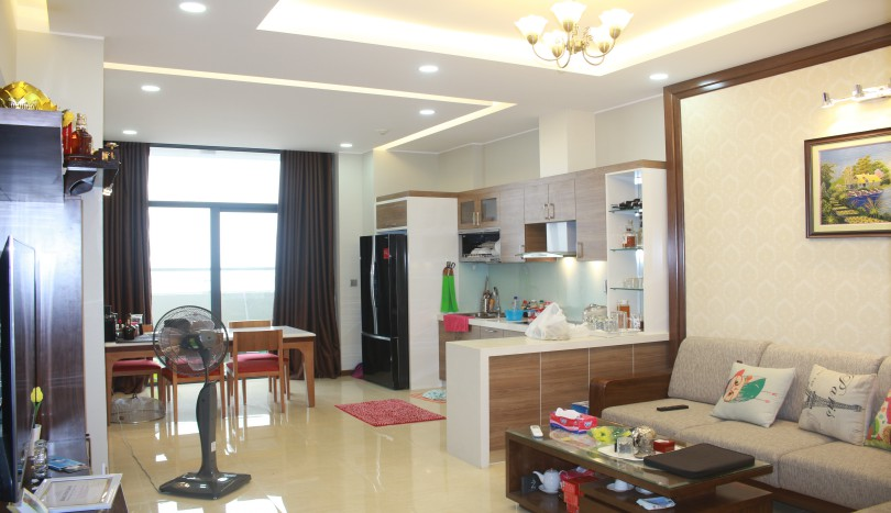Furnished rental Trang An Complex 3 bedroom apartment with balcony
