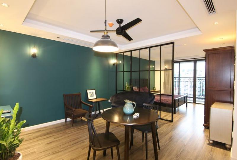 Furnished studio rental in D' Le Roi Soleil Xuan Dieu Tay Ho