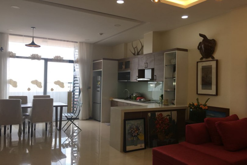 Furnished Trang An Complex apartment for rent with city view