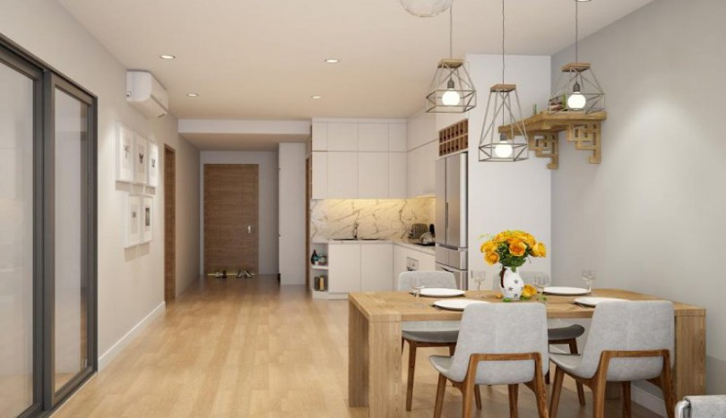 Furnished two bedroom apartment in Ecolife Tay Ho for rent