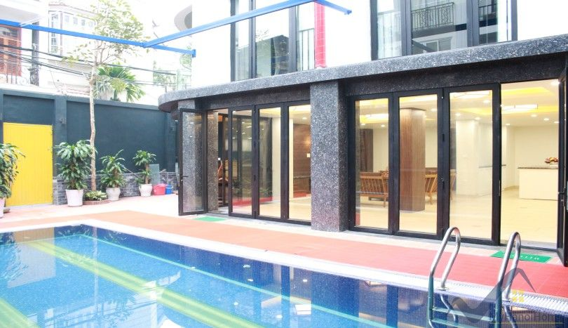 Garden and swimming pool duplex apartment for rent in Tay Ho