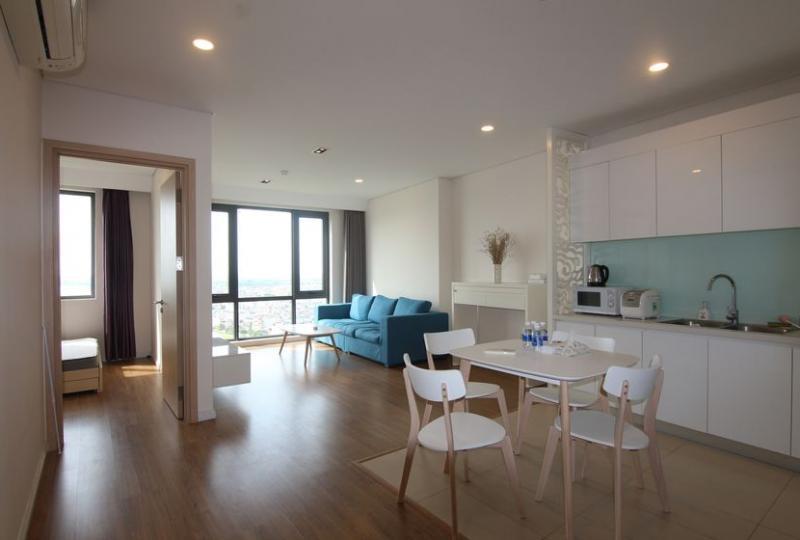 Furnished 2 bedroom apartment to rent Mipec Riverside Hanoi