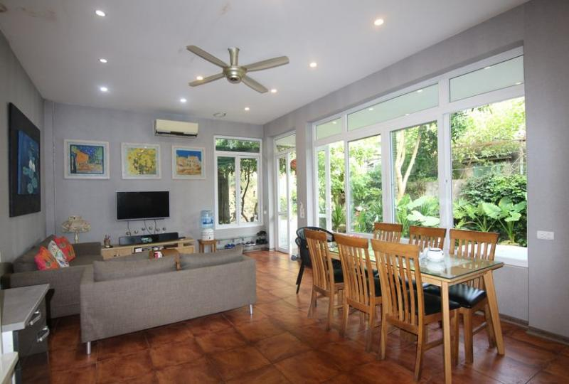 Huge garden house in Long Bien for rent with fully furnished