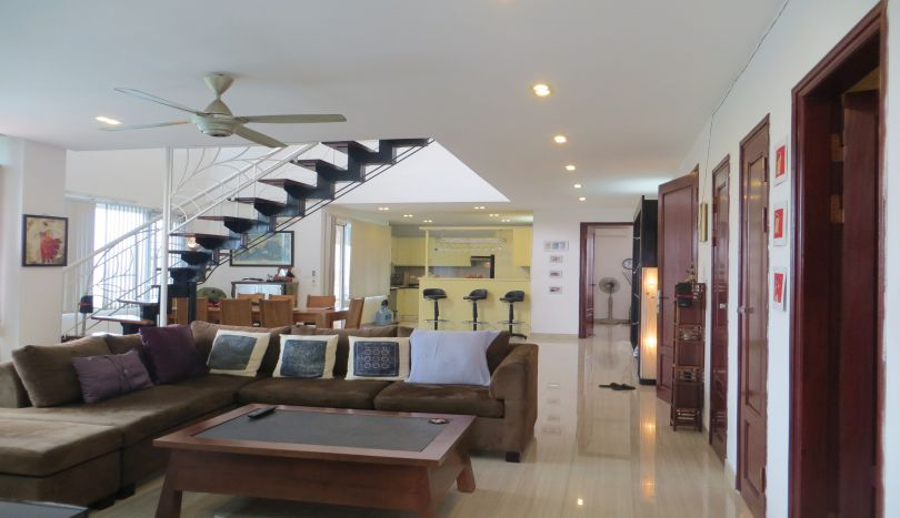 Impressive terrace 3 bedroom penthouse for rent in Tay Ho