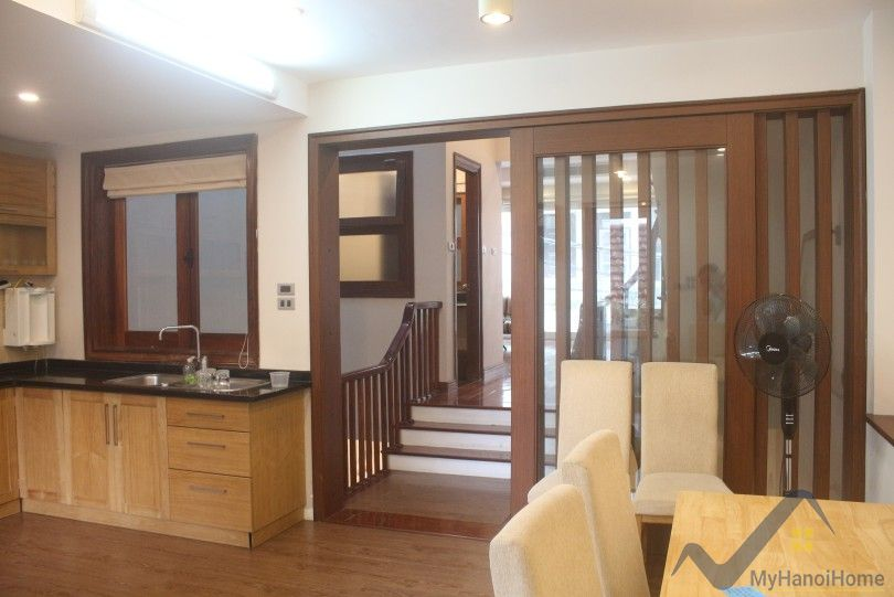 In-door pool house in Dang Thai Mai, Tay Ho rental furnished