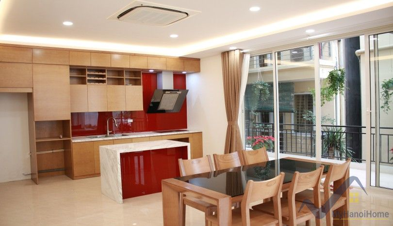 Indoor swimming pool house to rent in Tay Ho four bedrooms