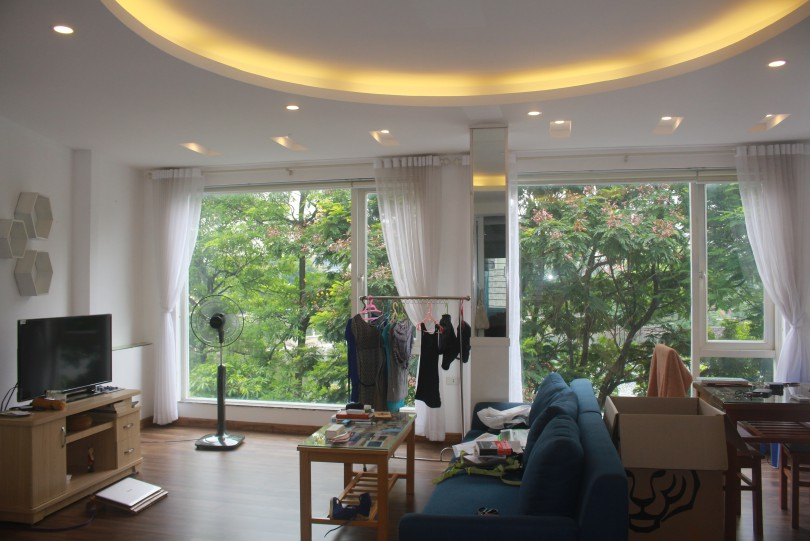Lake view 01 bedroom apartment for lease in Hanoi Truc Bach