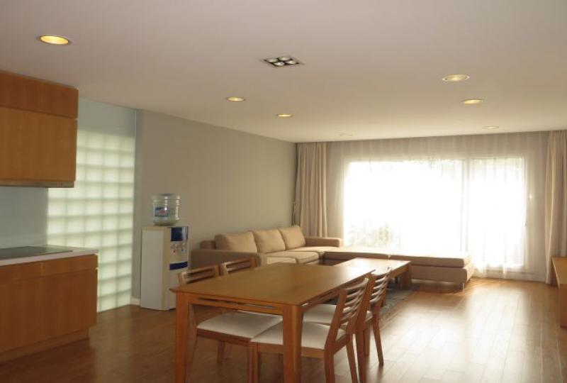 Lake view 02 bedroom apartment for rent in Tay Ho, wooden floor