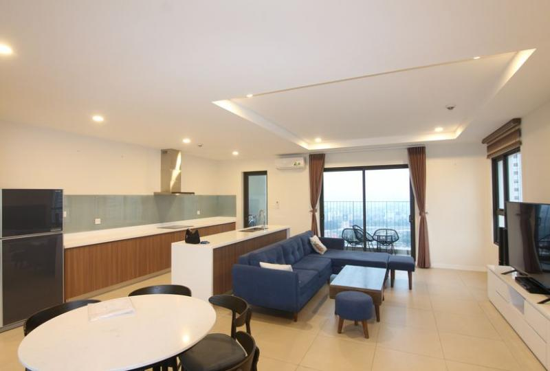Lake view and corner 3 bedroom apartment for rent in Kosmo Tay Ho