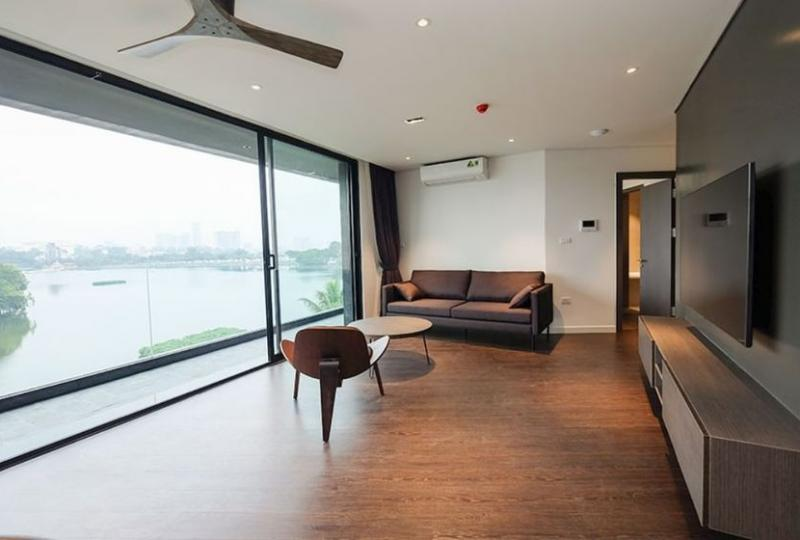 Lake view apartment for rent Truc Bach Hanoi 2 bedrooms
