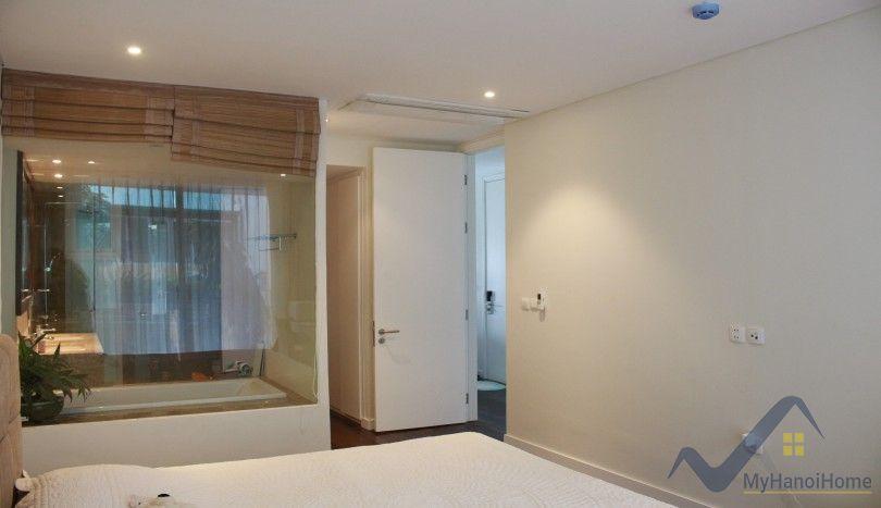 Lake view balcony 2 bedroom apartment in Tay Ho Hanoi rent