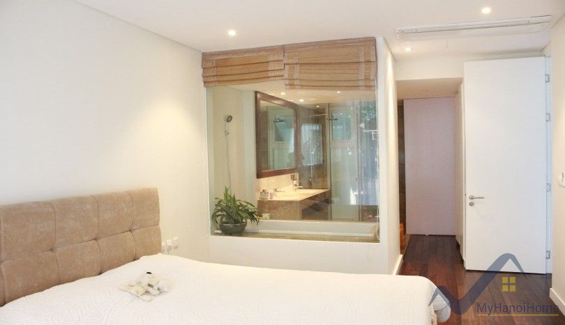 Lake view balcony 2 bedroom apartment in Tay Ho Hanoi rent
