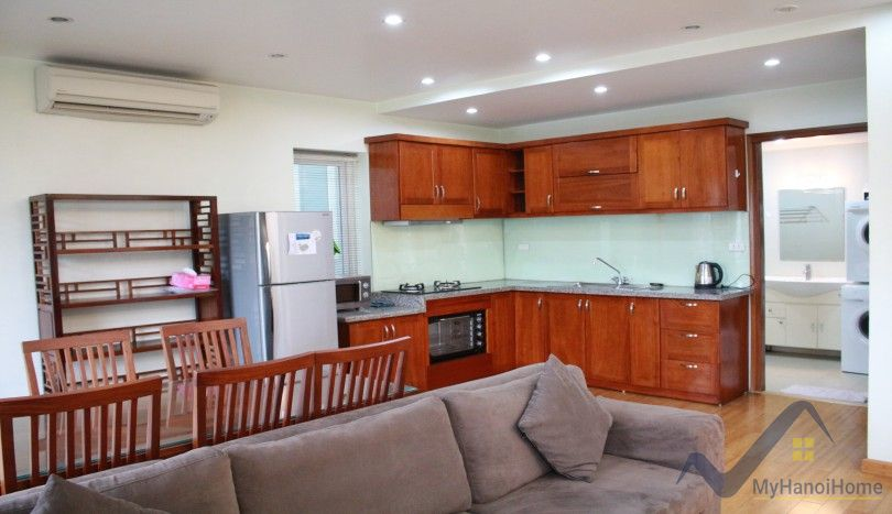 Lake view one bedroom rental apartment in Tay Ho Yen Phu