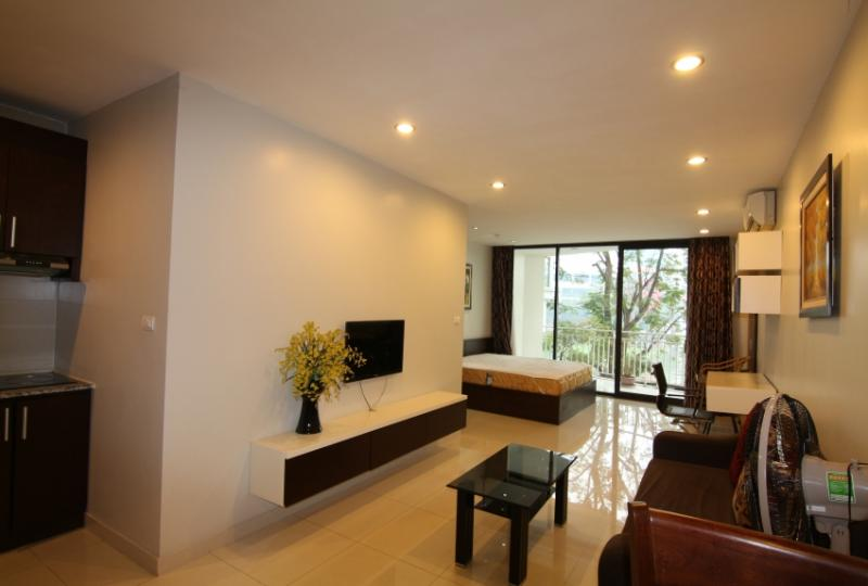 Lake view renting a studio apartment in Truc Bach Hanoi