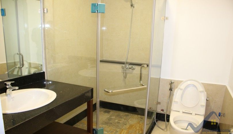 Large balcony apartment in Tay Ho, Hanoi to rent, furnished