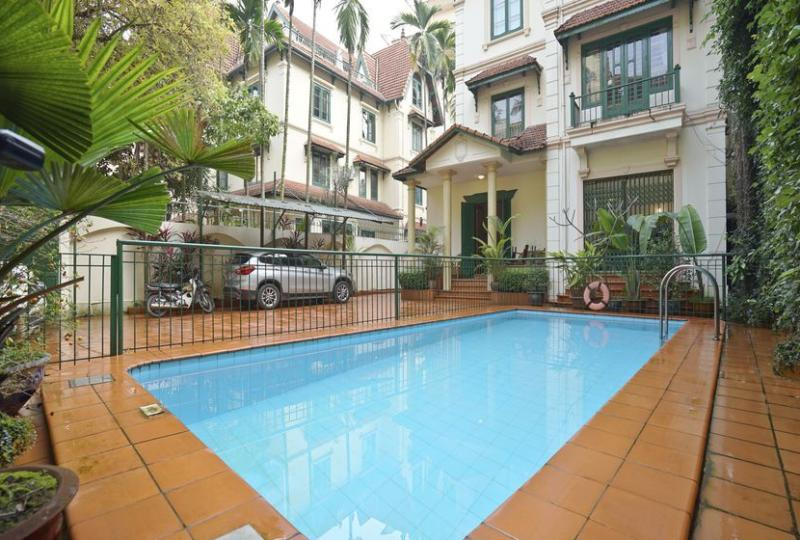 Large swimming pool villa rental on To Ngoc Van, Tay Ho