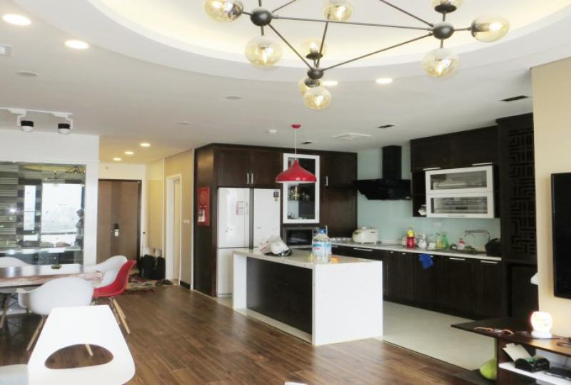 Mipec Riverside apartment with Red river view 3 beds furnished