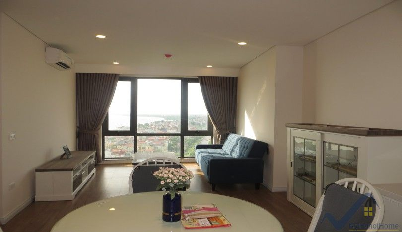 Mipec Riverside: Red river view 2 bedroom apartment furnished for rent