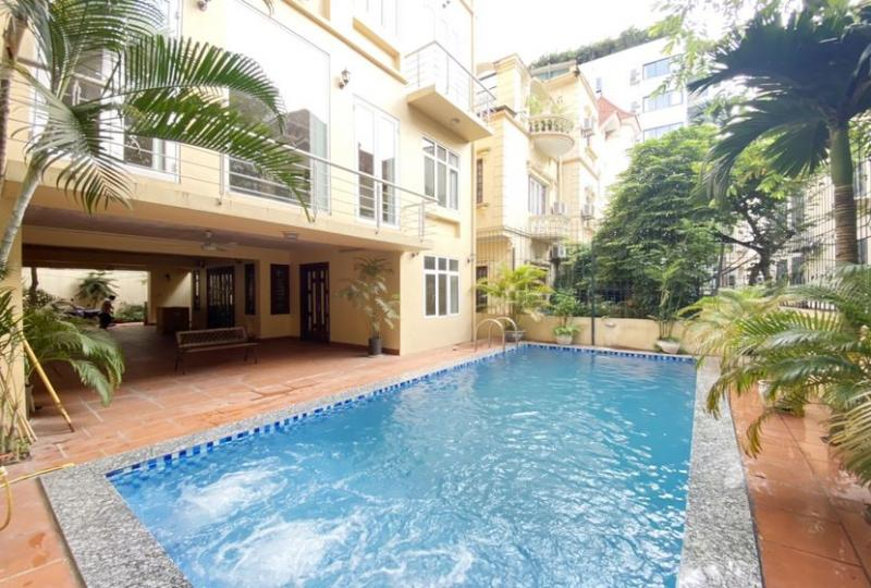 Modern house in Tay Ho Hanoi for rent with swimming pool