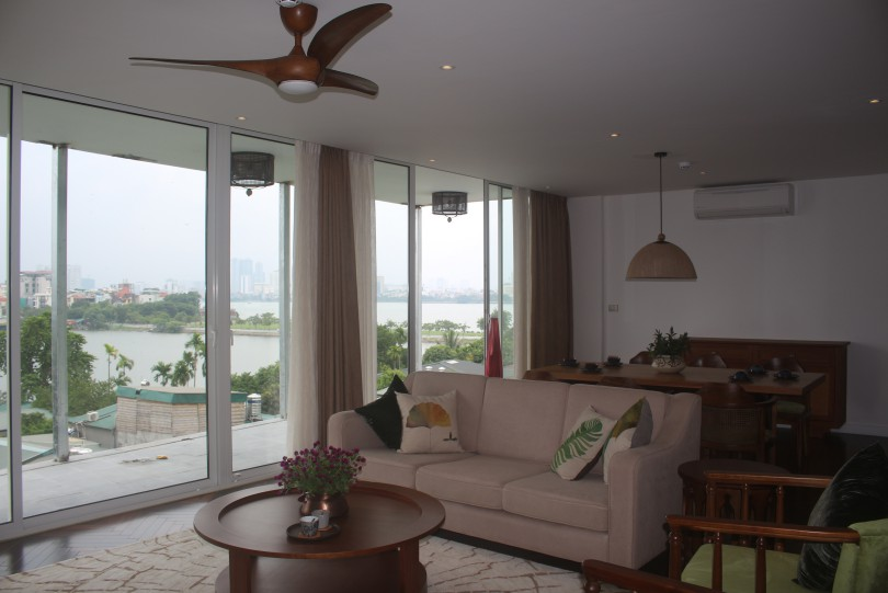 New modern Tay Ho apartment rent in Dang Thai Mai 4 bed 3 bath