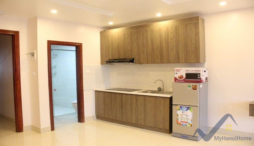 Open plan reception Tay Ho studio for rent Dang Thai Mai