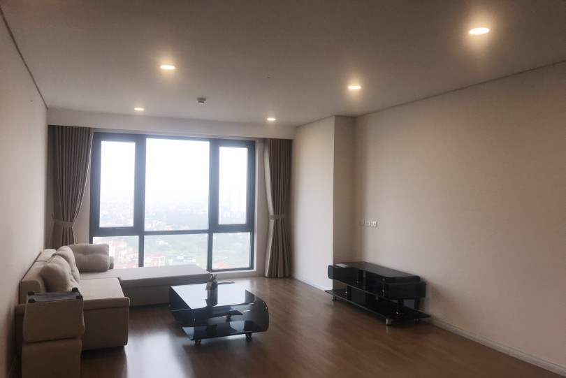 Partially furnished Two bedroom Mipec Riverside apartment for lease