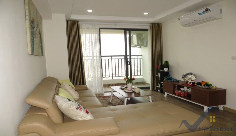 Partly furnished apartment in Ecolife Tay Ho, 2 beds 2 baths